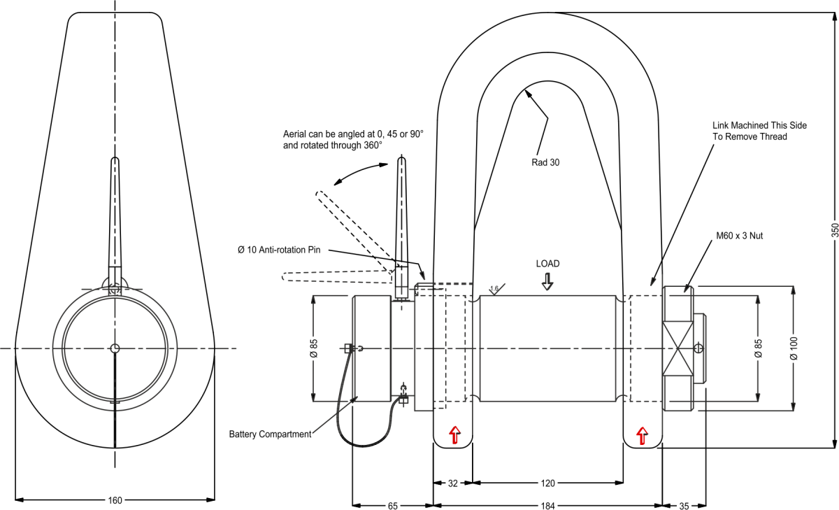 lcm3782 wireless shackle dimensions