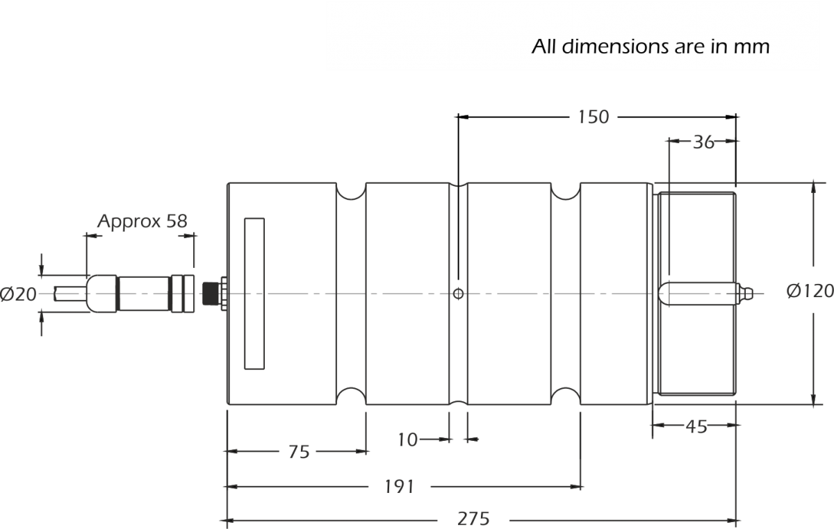 lcm4487 load pin dimensions