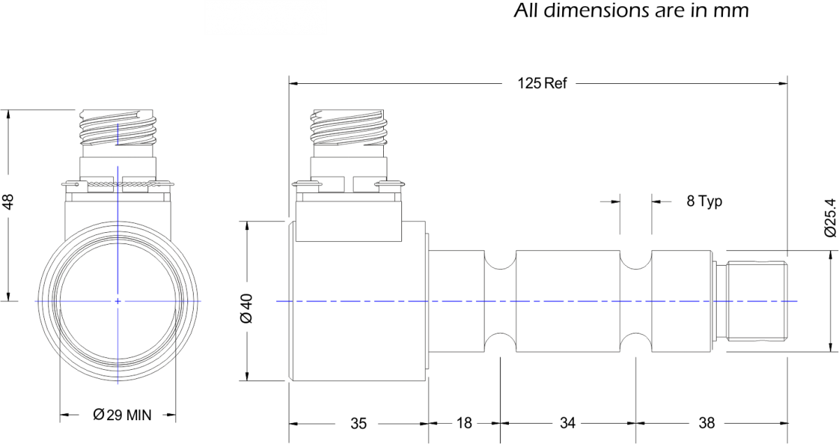 lcm4503 load pin dimensions