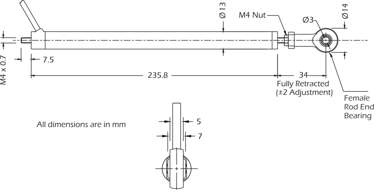 lcm4520 displacement transducer dimensions