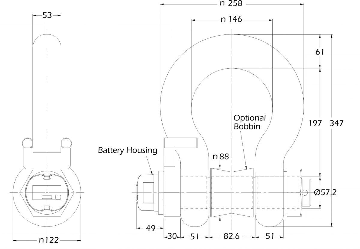 lcm4573 low temperature load shackle dimensions