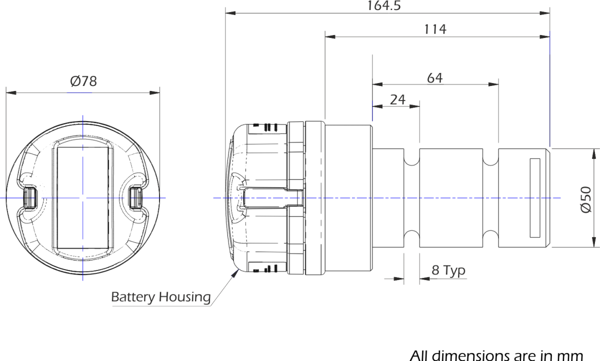 lcm4823 wireless load pin dimensions