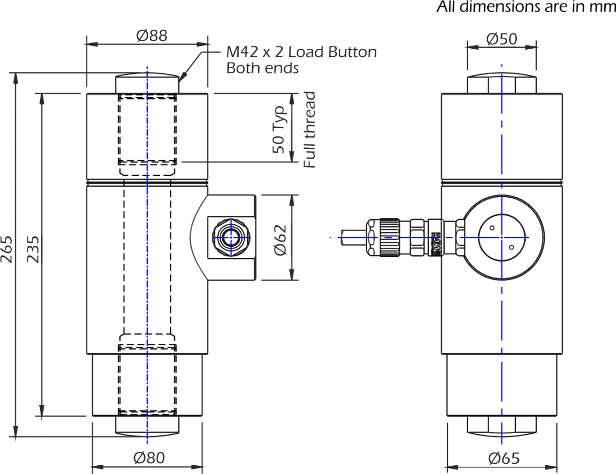 lcm4824 load cell dimensions